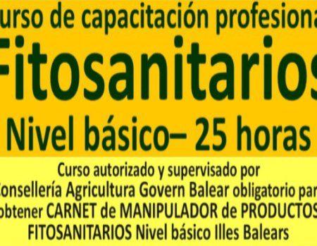 Curso fitosanitario básico Mallorca inscríbete próximas convocatorias 2018