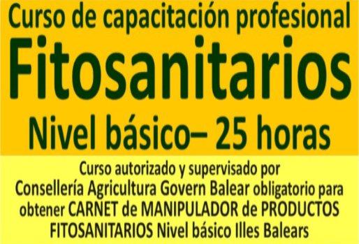 Curso básico manipulador productos fitosanitarios Mallorca