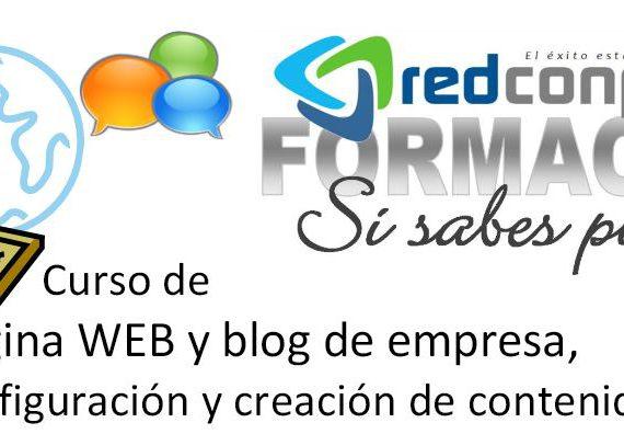Curso de pagina web y creacion de contenidos para blog de empresa