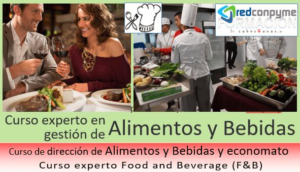 Curso experto en gestión de Alimentos y bebidas F&B presencial REDCONPYME
