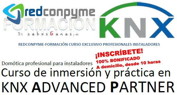 Curso KNX ADVANCED inmersión y práctica en KNX ADVANCED PARTNER de bajo coste para autónomos e instaladores