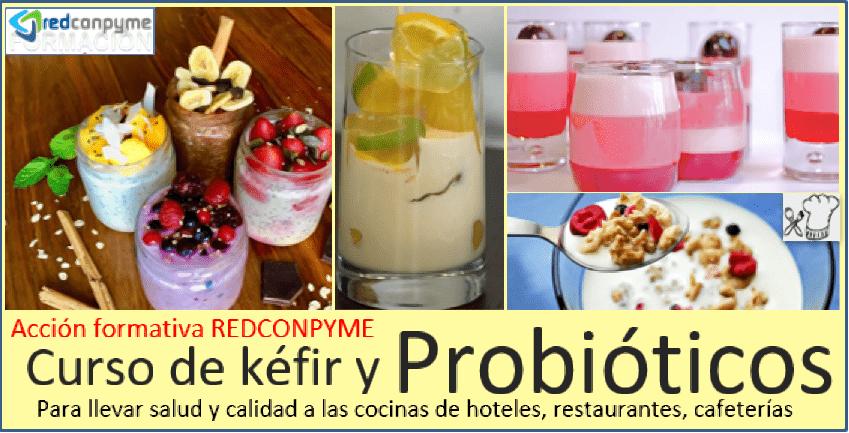 postres con kefir y probióticos
